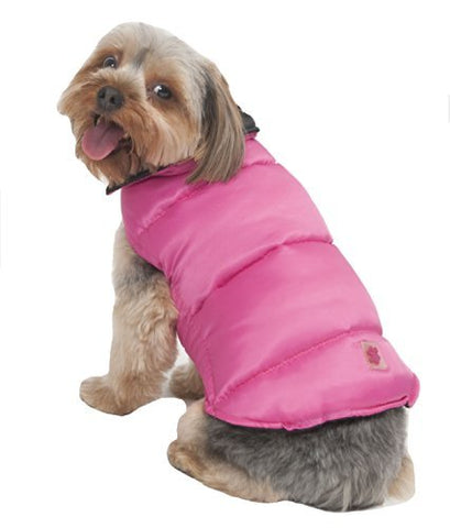 Reversible Arctic Dog Coat, Pink/Black