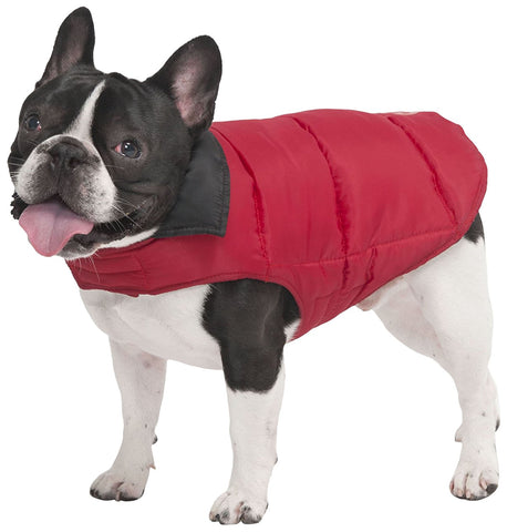 Reversible Arctic Dog Coat, Red/Black