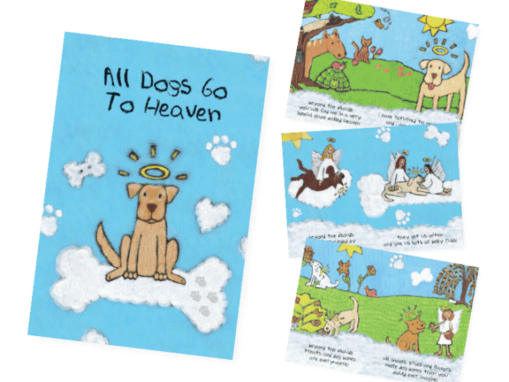 All Dogs Go To Heaven (Booklet) Sympathy Card