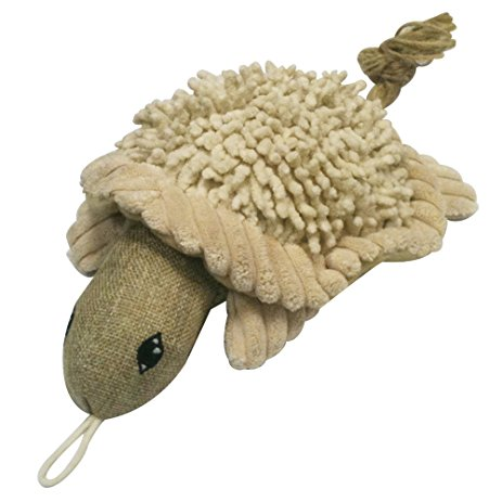 Twisted Turtle Natural Durable Squeaker Dog Toys