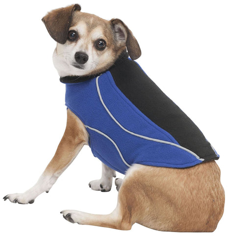 Performance Fleece Dog Coat, Blue