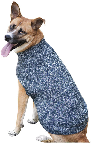 Tonal Marled Dog Sweater, Blue