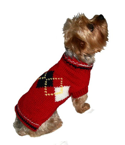 Argyle Dog Sweater, Red
