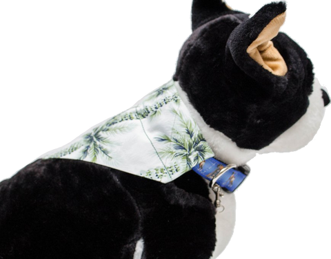 Breezy Palms Over-the-Collar Dog Bandana - Reversible
