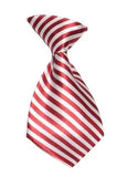 Striped Candy Cane Dog Neck Tie