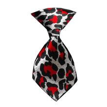 Red Leopard Dog Neck Tie
