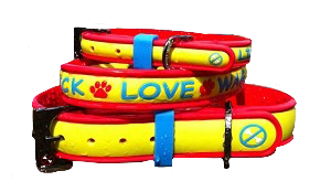 No Bones About It - Lick Love Wag Dog Collars Hot Tamale