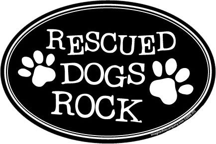 Rescued Dogs Rock Magnet