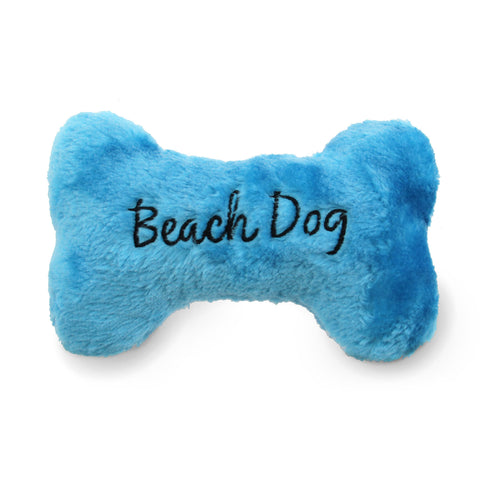Beach Dog Bone Dog Toy, Blue