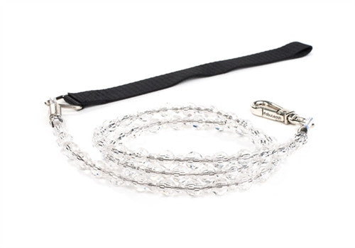 Fabuleash Beaded Dog Leash - Crystal - BPaWed Pals, LLC