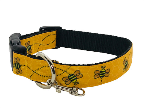 Bumblebees Adjustable Dog Collar
