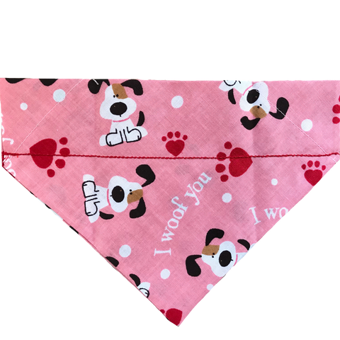 I Woof You Valentine's Day Over-the-Collar Dog Bandana