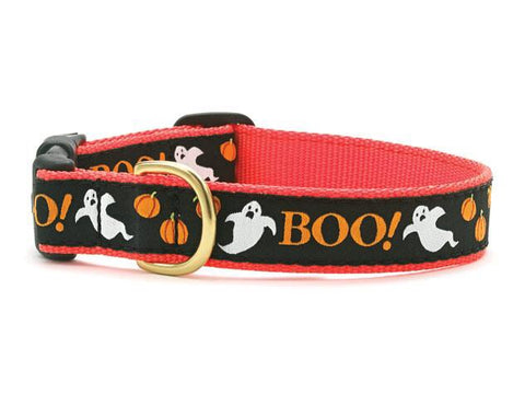 Halloween Boo Adjustable Dog Collar