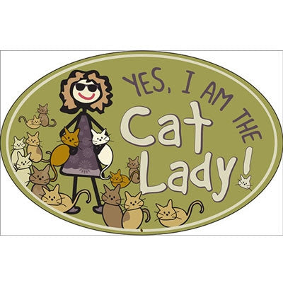 Cat Lady - Oval Magnet - BPaWed Pals, LLC