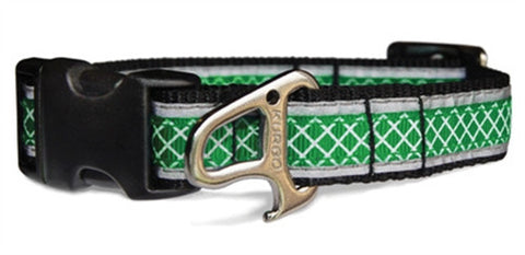 Reflect & Protect Adjustable Dog Collar - Grass Green