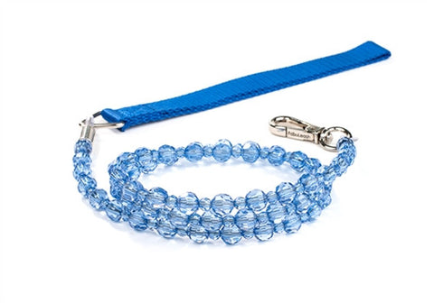 Fabuleash Beaded Dog Leash - Sapphire Blue - BPaWed Pals, LLC