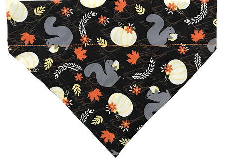 Fall Squirrels Over-the-Collar Dog Bandana