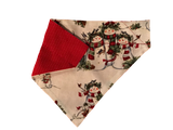 Snowmen with Pets Over-the-Collar Dog Bandana - Reversible