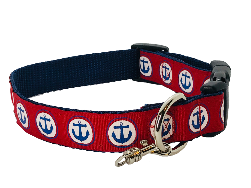 Anchors Away Adjustable Dog Collar