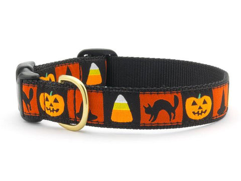 Halloween Candy Corn Adjustable Dog Collar