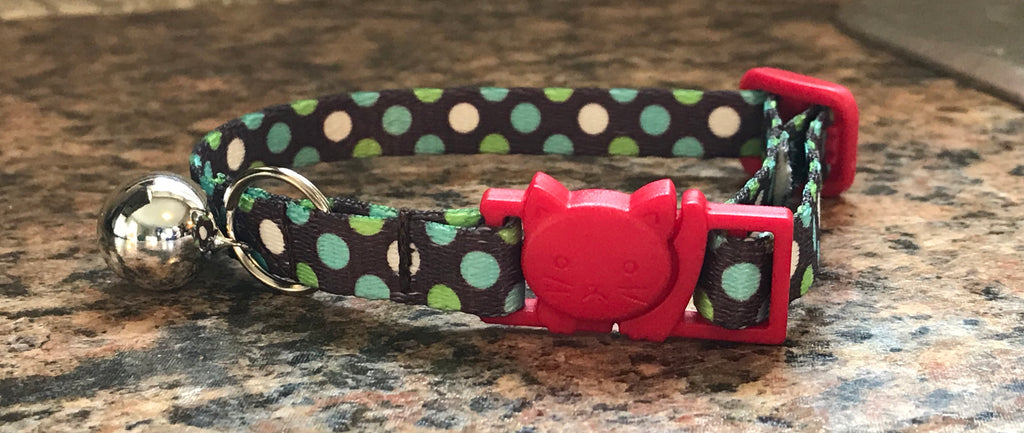 Breakaway Polka Dots Cat Collar, Red