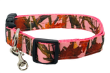 Pink Tree Camo Adjustable Dog Collar