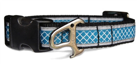 Reflect & Protect Adjustable Dog Collar - Coastal Blue