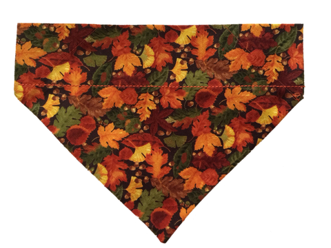 Fall Leaves Over-the-Collar Dog Scarf - Five Bostons
