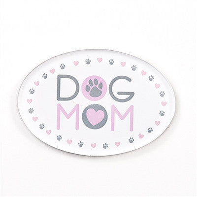 Dog Mom - Oval Shaped Acrylic Magnet - BPaWed Pals, LLC