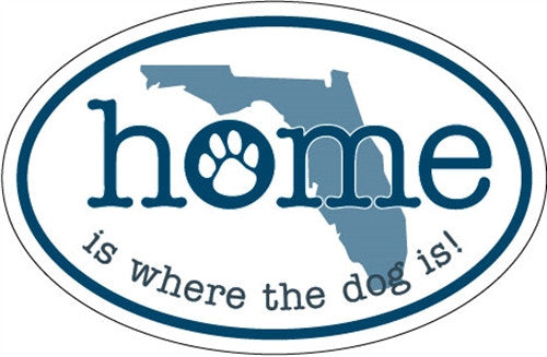 Home Is Where the Dog Is (FL) - Oval Magnet - BPaWed Pals, LLC