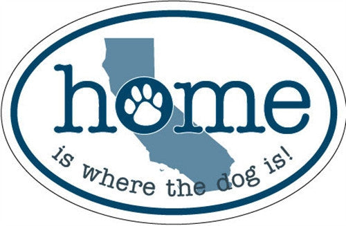 Home Is Where the Dog Is (CA) - Oval Magnet - BPaWed Pals, LLC
