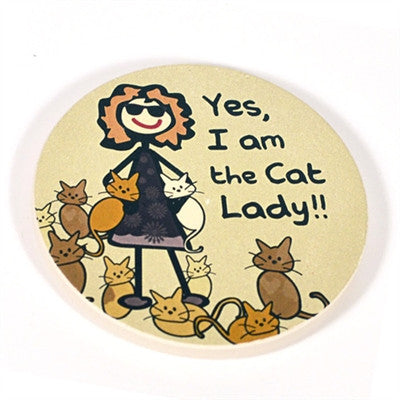 Cat Lady - Car Coaster - BPaWed Pals, LLC