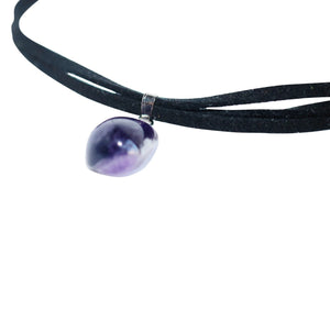 Amethyst Suede Choker Necklace