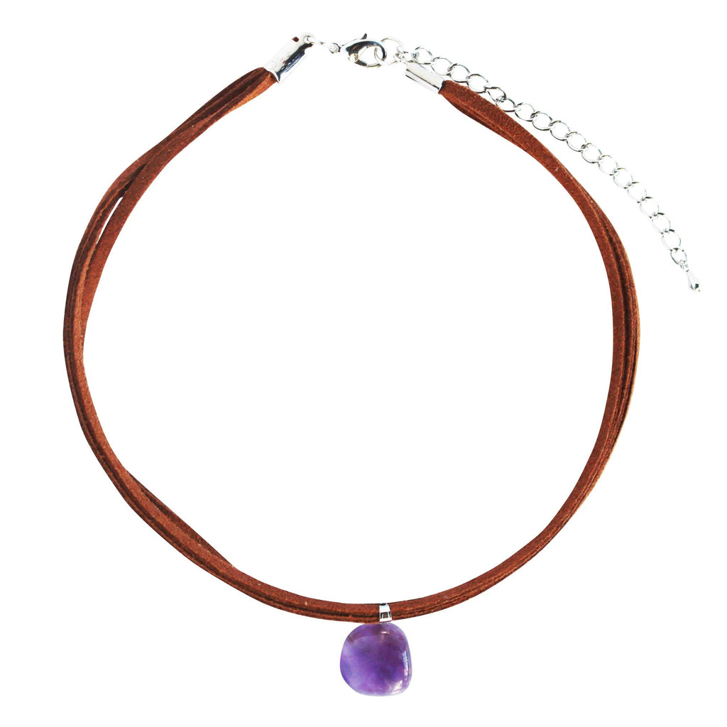 Amythest Choker Necklace