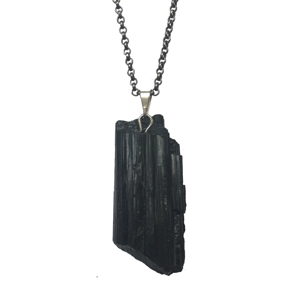 Black Tourmaline Necklace The Crystal Grid