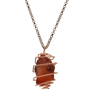 Carnelian Crystal Necklace