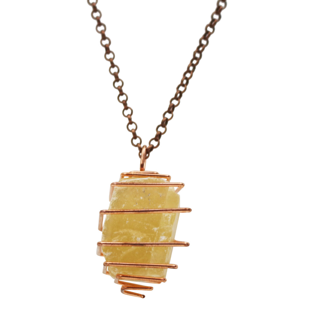 Citrine Calcite Necklace