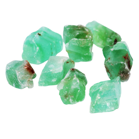 Raw Green Calcite Crystals