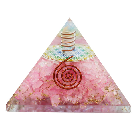 Rose Quartz Orgone Pyramid