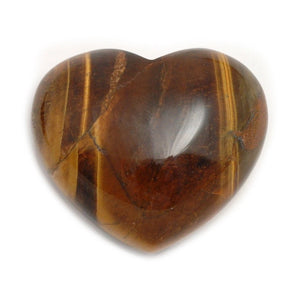 Tigers Eye Crystal Heart