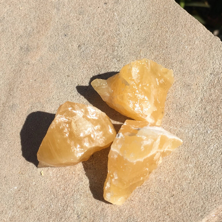 Raw Orange Calcite Crystal For Sale
