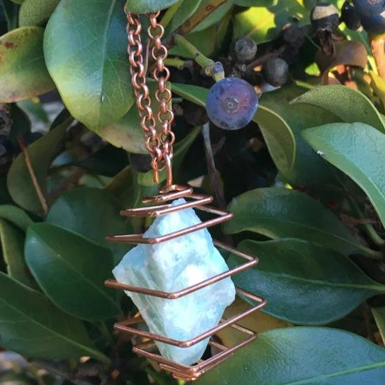 Amazonite Necklace The Crystal Grid
