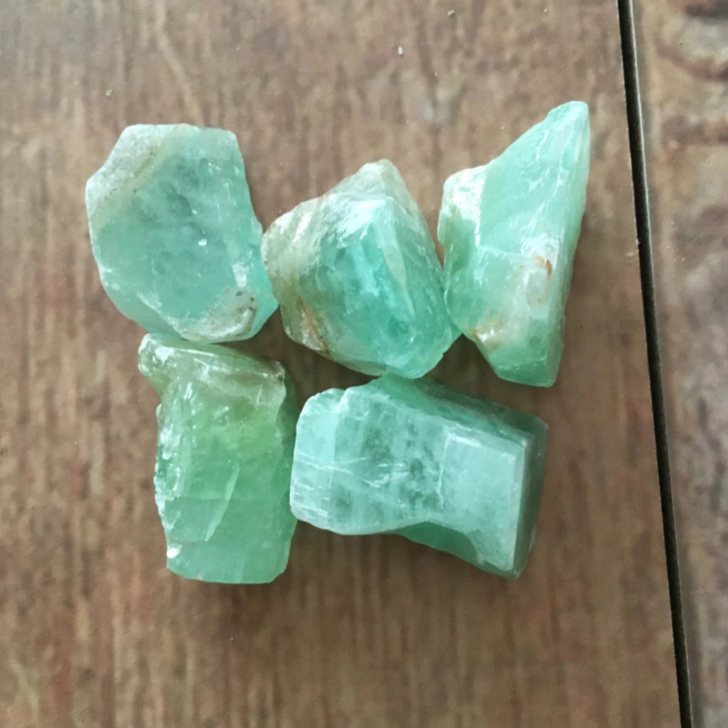 Raw Green Calcite Crystal The Crystal Grid
