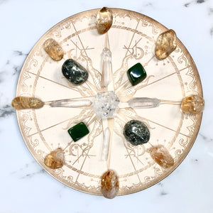Wealth and Prosperity Crystal Grid