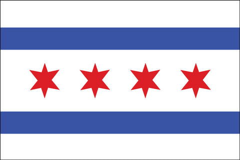 City Of Chicago Flag - Pinnacle Flags