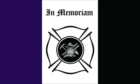 Fireman Mourning Flag - Service Flags