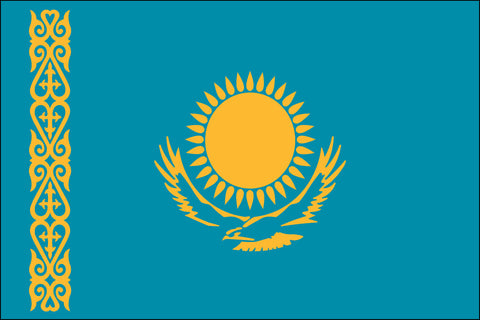 Kazakhstani and Kazakh Flag - Pinnacle Flags