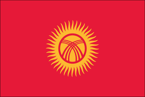 Kyrgyzstani and Kyrgyz and Kirgiz and Kirghiz Flag - Pinnacle Flags
