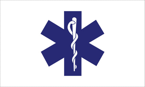 Star Of Life Flag - Service Flags