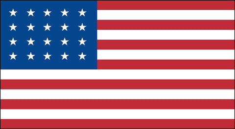 The 20 Star American Flag - Historical Flags